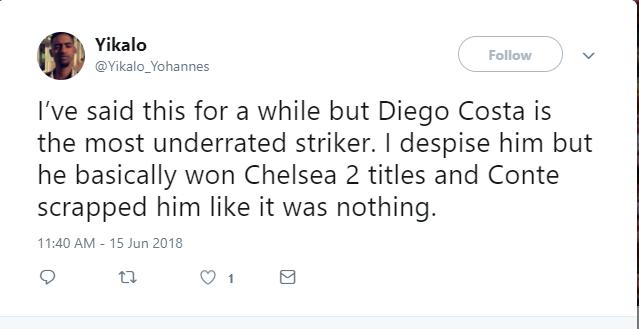 Fan Chelsea muốn Diego Costa trở lại thay Morata sau bàn thắng