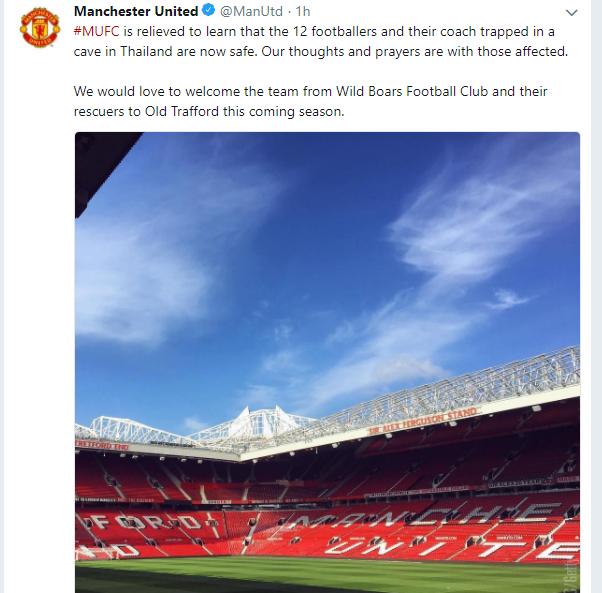 MU gửi lời mời đội bóng nhí Thái Lan đến sân Old Trafford - Bóng Đá