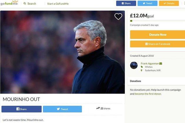 Fan Man United 'ủ mưu' sa thải Mourinho bằng... từ thiện - Bóng Đá