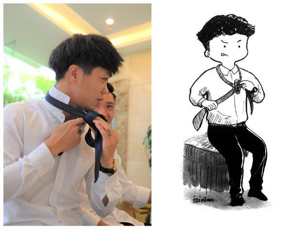Đáng yêu hết cỡ với loạt tranh chibi về tuyển Việt Nam - Bóng Đá