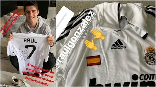 Nhân dịp sinh nhật, Morata nhận quà độc từ huyền thoại Real - Bóng Đá