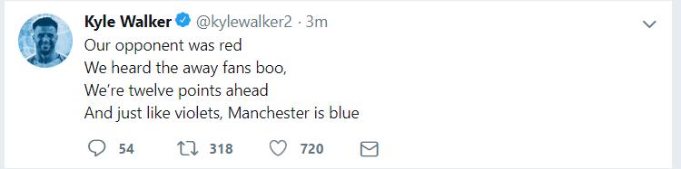 Hậu derby Manchester, Kyle Walker móc mỉa Man United bằng... thơ - Bóng Đá