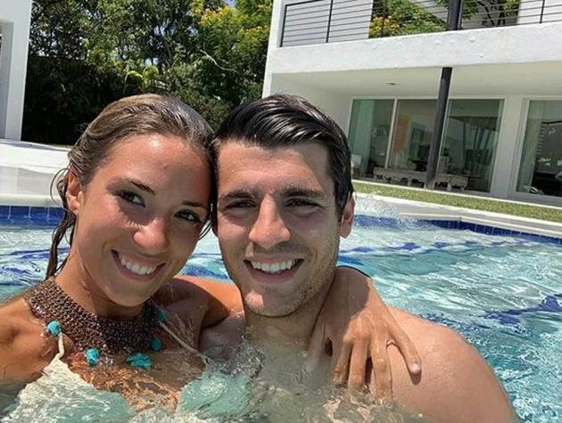 Morata lại lộ ảnh giường chiếu cùng vợ (Ảnh) - Bóng Đá