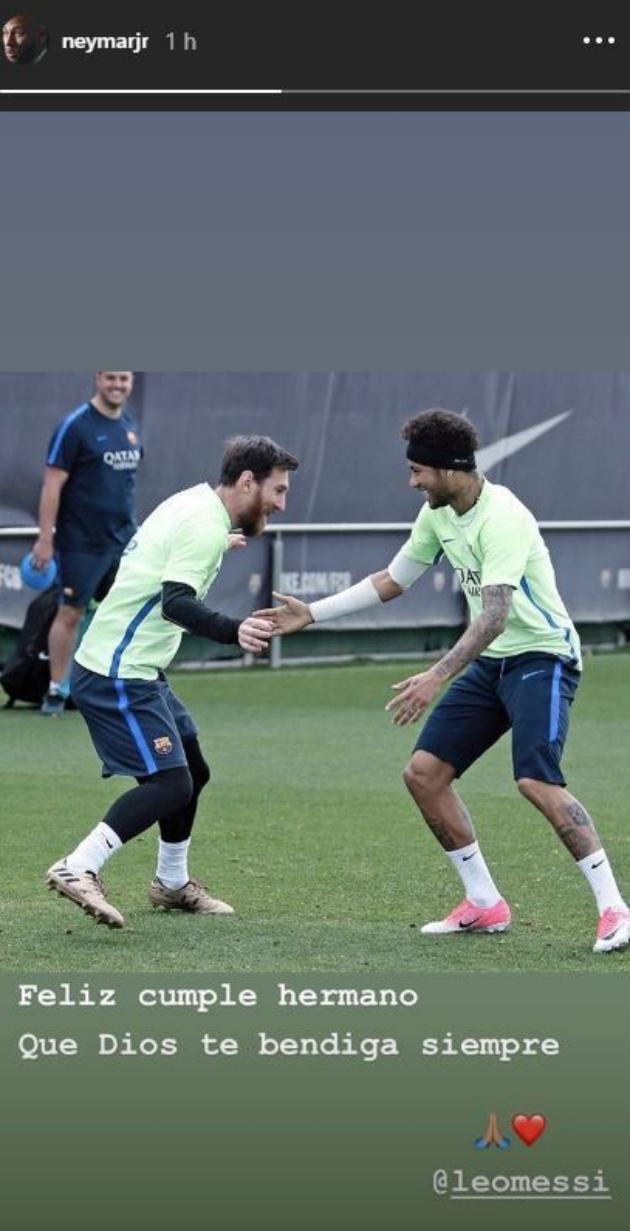 Neymar wishes Messi a happy birthday - Bóng Đá