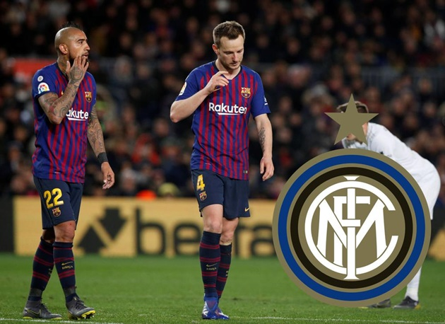 Inter are considering moves for both Ivan Rakitic and Arturo Vidal from Barcelona. - Bóng Đá