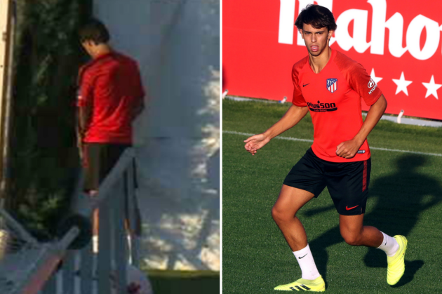 $203m recruit Joao Felix filmed urinating on tree during Atletico Madrid training - Bóng Đá
