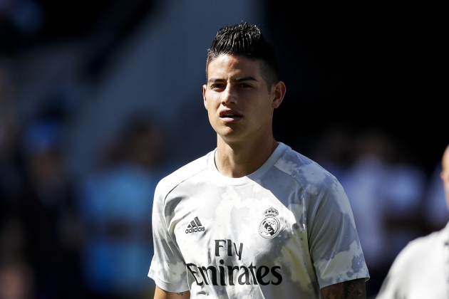 How likely is James Rodriguez to play against Real Valladolid? - Bóng Đá