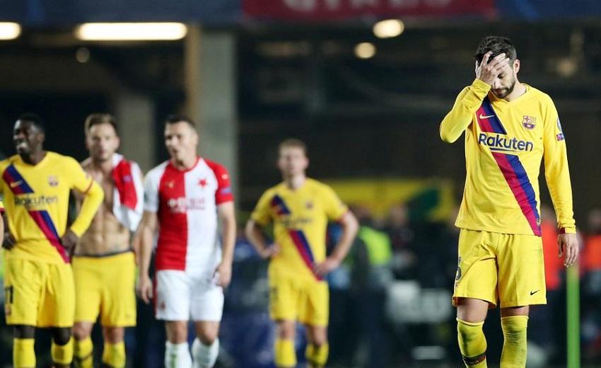 Barcelona left Slavia Prague's dressing room in an absolute state - Bóng Đá