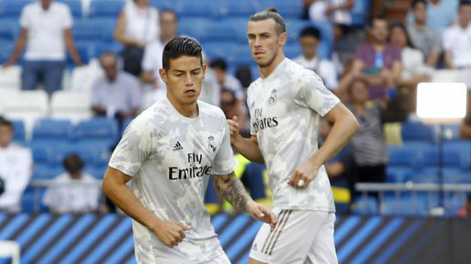 Bale and James left the Bernabeu 10 minutes before the end of the match - Bóng Đá