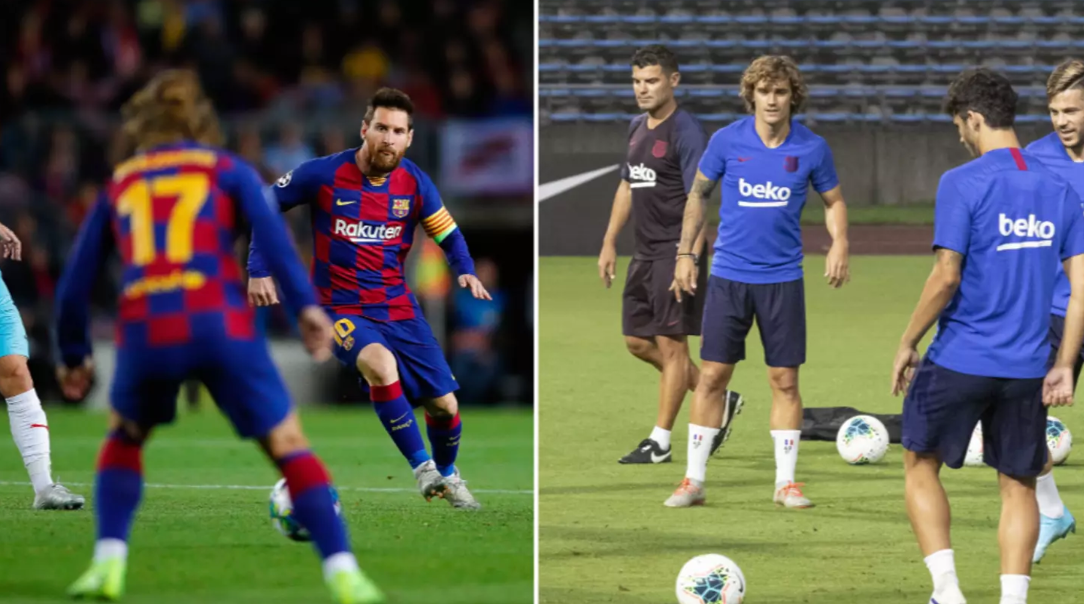 Lionel Messi And Antoine Griezmann Do Not Speak To Each Other In Training - Bóng Đá