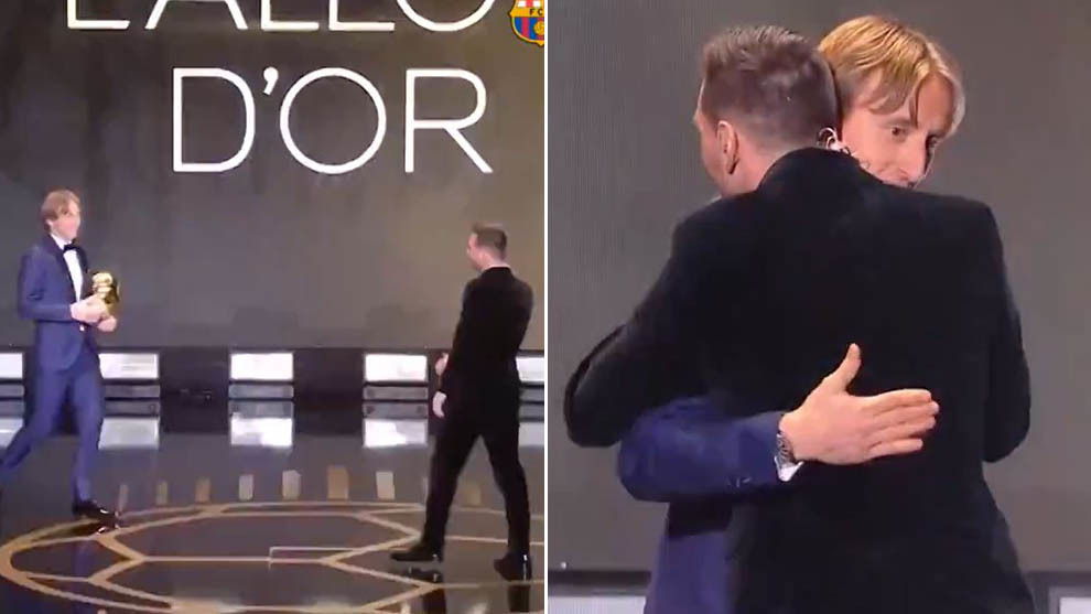Modric's message to Messi when handing over Ballon d'Or award - Bóng Đá