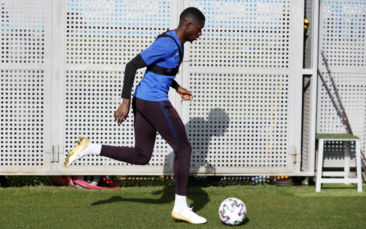 Ousmane Dembele steps up recovery from injury in Barcelona training - Bóng Đá