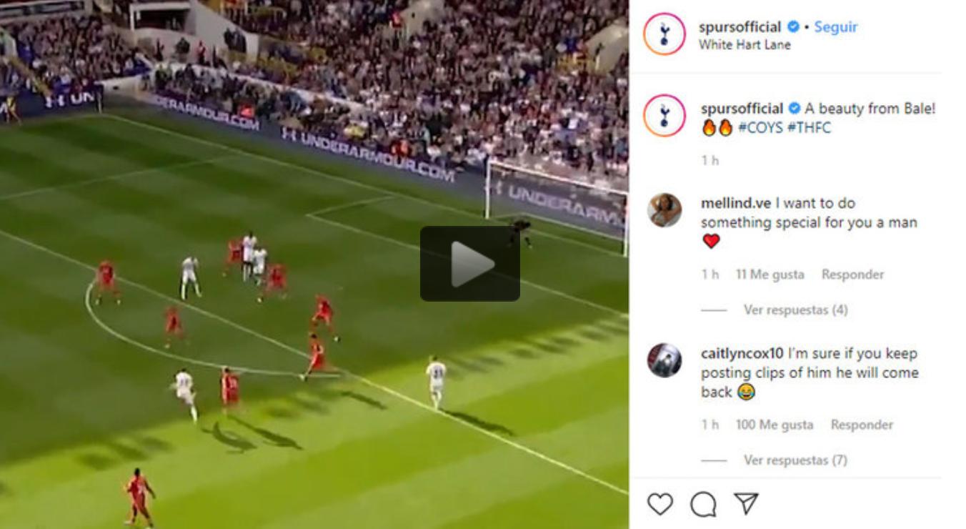 Tottenham fuel Bale talk with another social media post - Bóng Đá