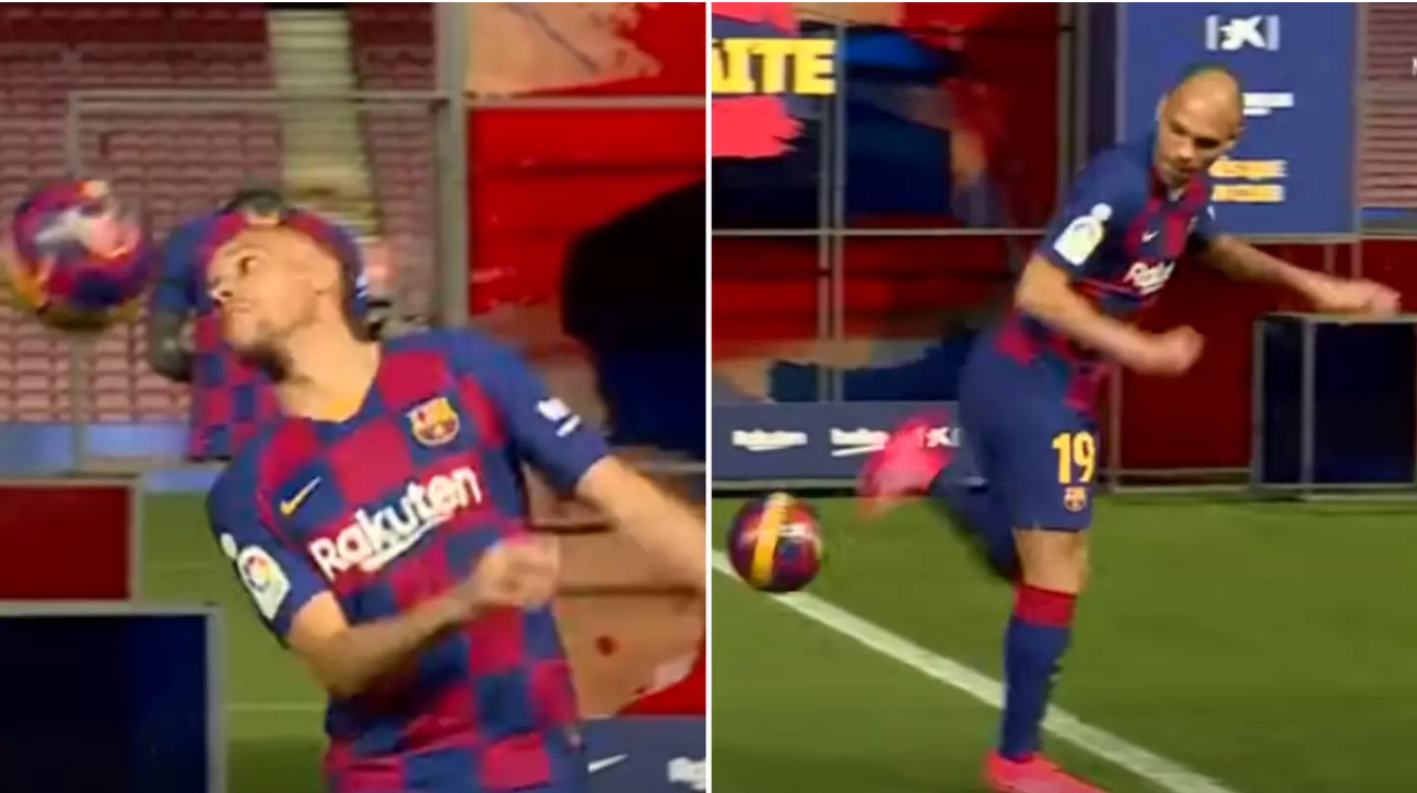 Martin Braithwaite fails trying to show off his skills during Barcelona presentation - Bóng Đá