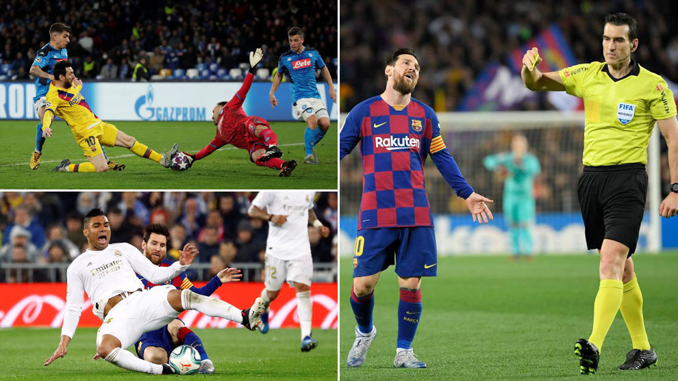 What's up with Messi? Three yellow cards in a row for the first time in his career - Bó.ng Đá.
