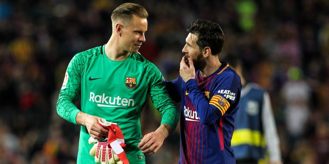 Ter Stegen y Messi, intocables - Bóng Đá