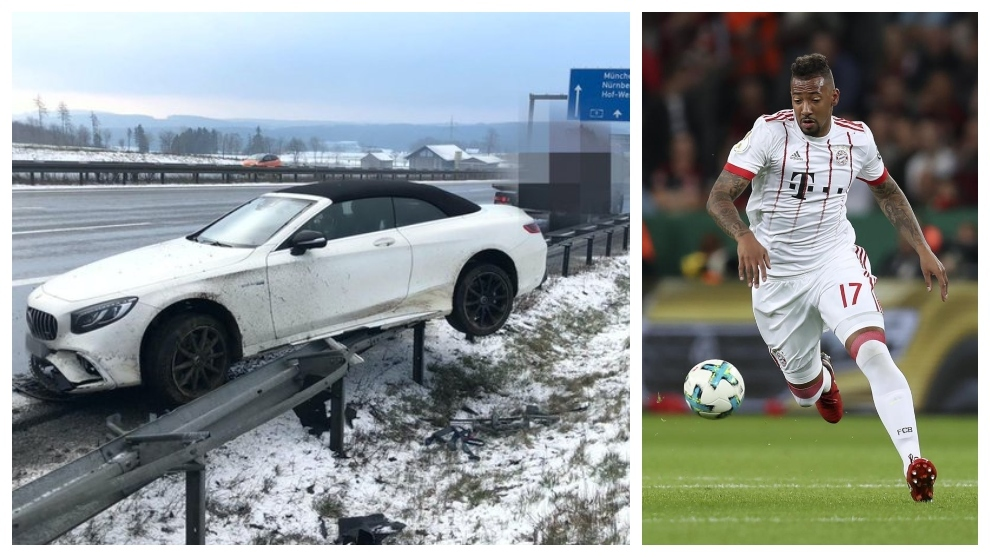 Boateng escapes uninjured from a car accident - Bóng Đá