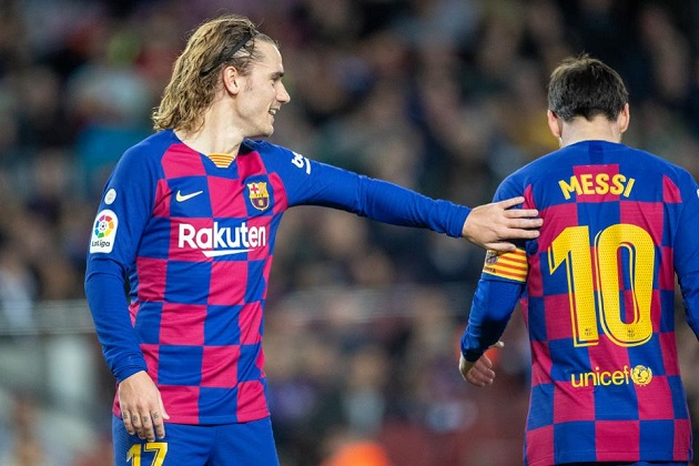 Opta: Antoine Griezmann only behind Lionel Messi for most chances created for Barcelona in La Liga this season - Bóng Đá