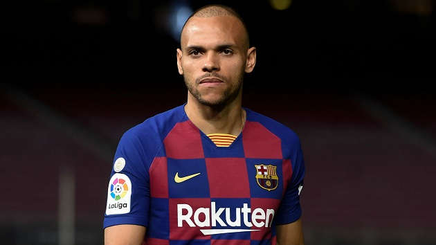 Barcelona 'looking' for options to sell Martin Braithwaite - Bóng Đá