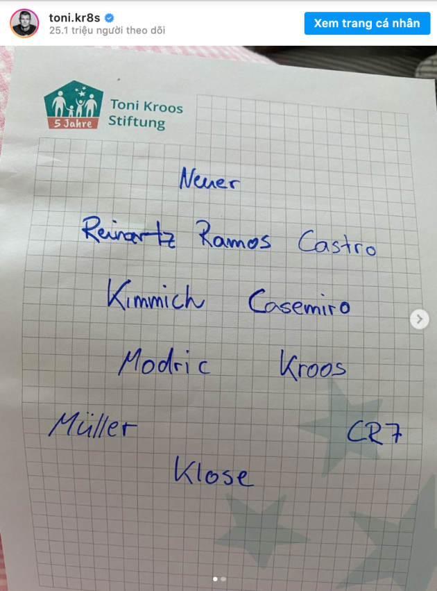 Kroos chooses the line-up he dreams of for his final game - Bóng Đá