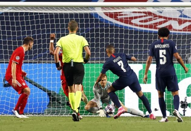 Neymar and Mbappe's missed chances against Bayern Munich - Bóng Đá