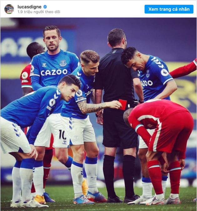 Everton 2-2 Liverpool: Lucas Digne angers Liverpool fans with Instagram post - Bóng Đá
