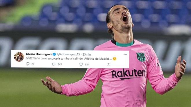 Alvaro Dominguez: Griezmann dug his own grave when he left Atletico Madrid - Bóng Đá