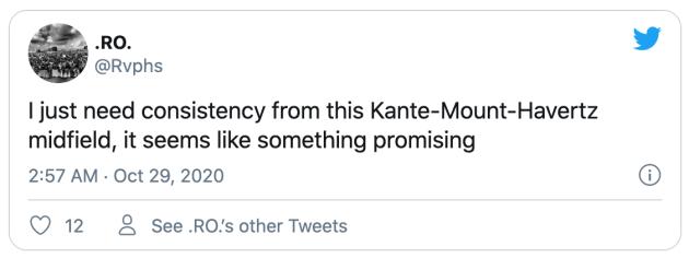 Chelsea fans react to Mount-Kante-Havertz midfield performance v Krasnodar - Bóng Đá