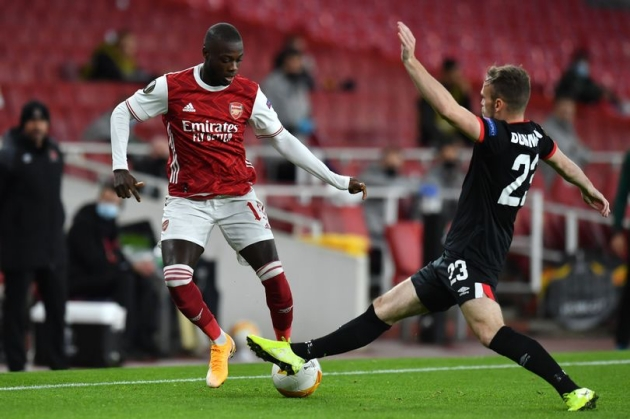 Arsenal fans cannot believe what Nicolas Pepe did in the first half against Dundalk - Bóng Đá