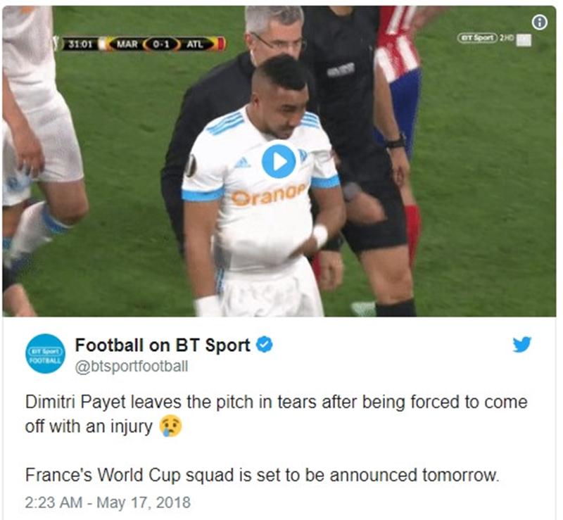 CĐV Anh hả hê khi sao tuyển Pháp dính chấn thương nặng - Bóng Đá