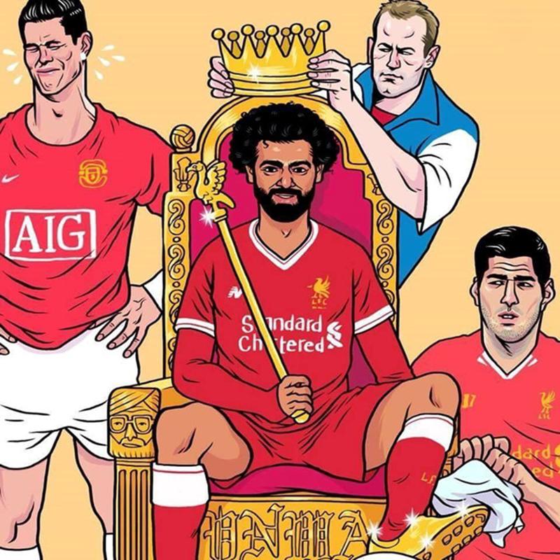 Hí họa Ronaldo khóc vì Salah làm vua ở Premier League - Bóng Đá