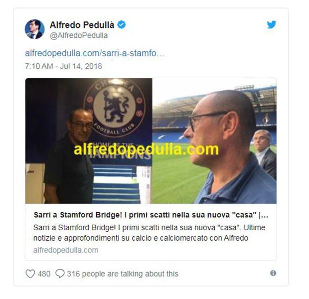 Nóng! Sarri đã tới Stamford Bridge, chuẩn bị ký kết với Chelsea - Bóng Đá