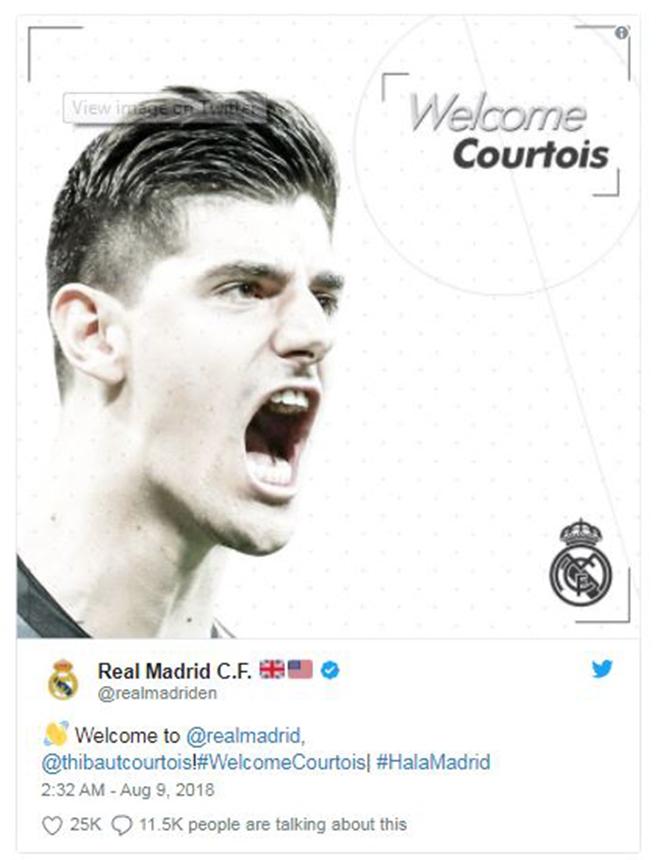 NÓNG: Real Madrid XÁC NHẬN Courtois đã là người của Los Blancos - Bóng Đá