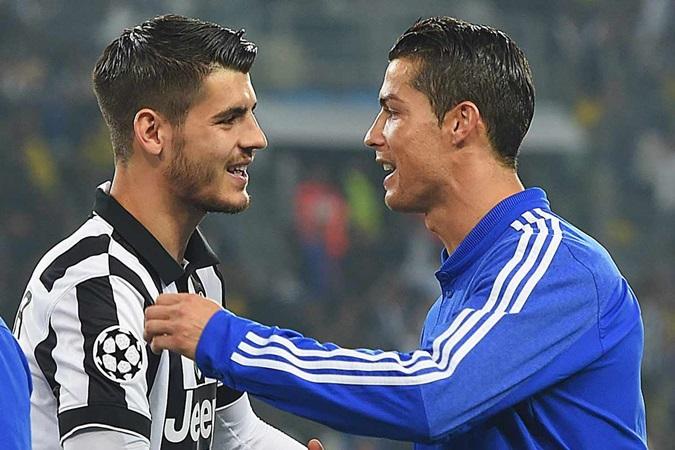 Đốt lưới Man Utd, cuối cùng Ronaldo cũng sánh ngang... Morata - Bóng Đá