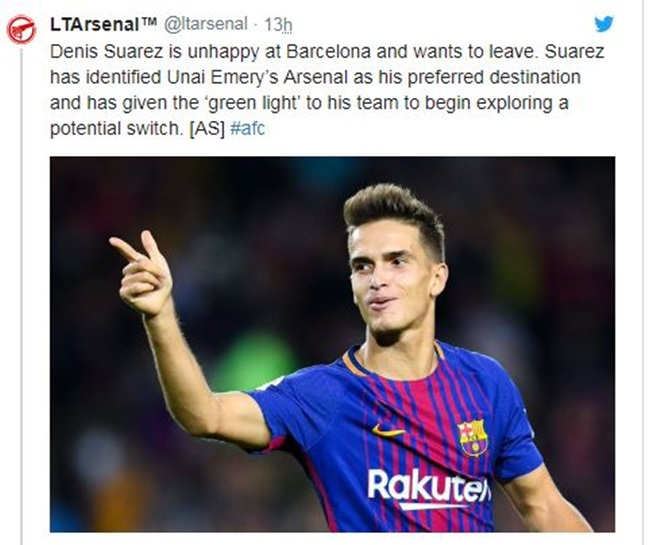 Sao Barca muốn đến Arsenal, CĐV trả lời:
