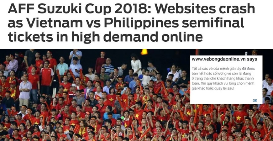 Báo Châu Á lên tiếng về hệ thống bán vé online của VFF - Bóng Đá