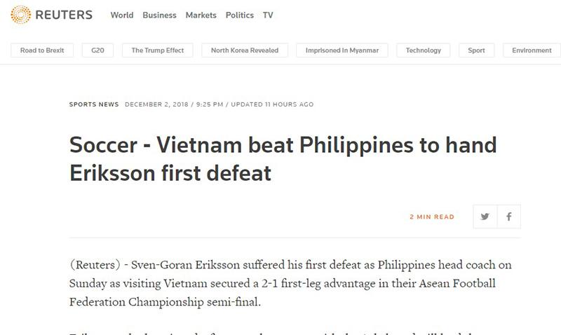 Truyền thông Anh ngỡ ngàng với thất bại của HLV Eriksson trước Việt Nam - Bóng Đá