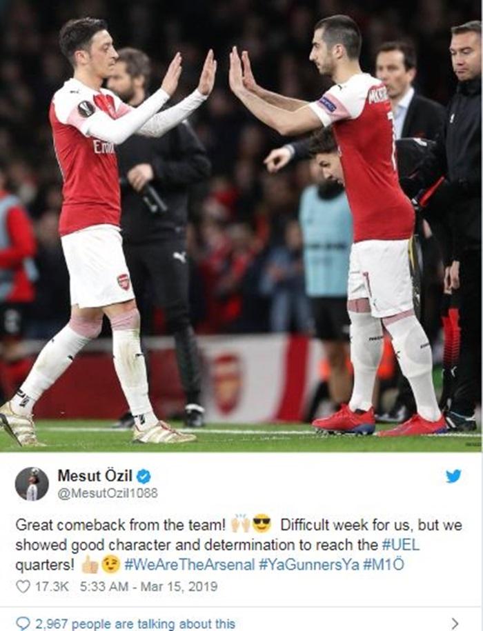 Ozil chỉ ra điều giúp Arsenal ngược dòng kịch tính trước Rennes - Bóng Đá