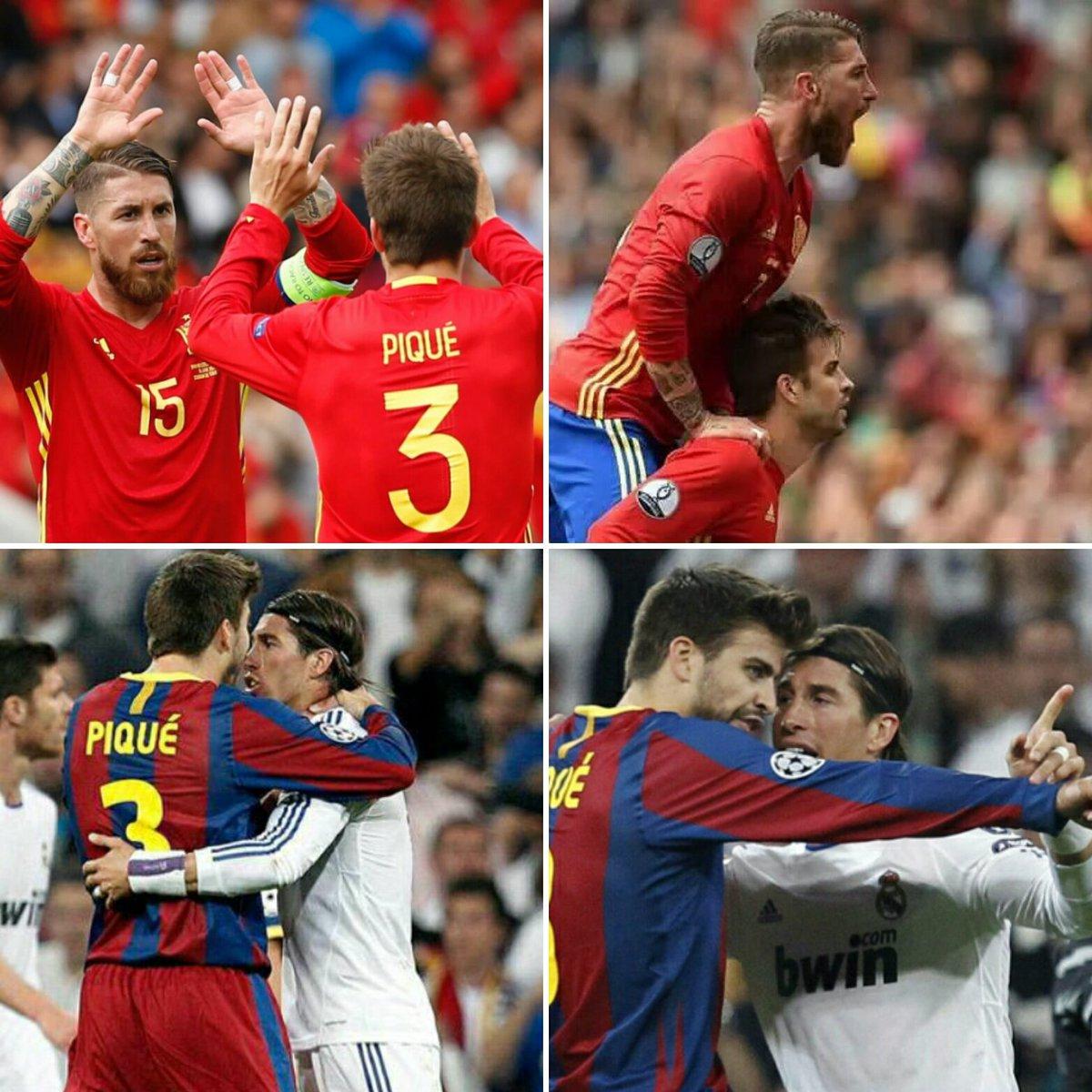 hành động đẹp của Pique với Ramos - Bóng Đá