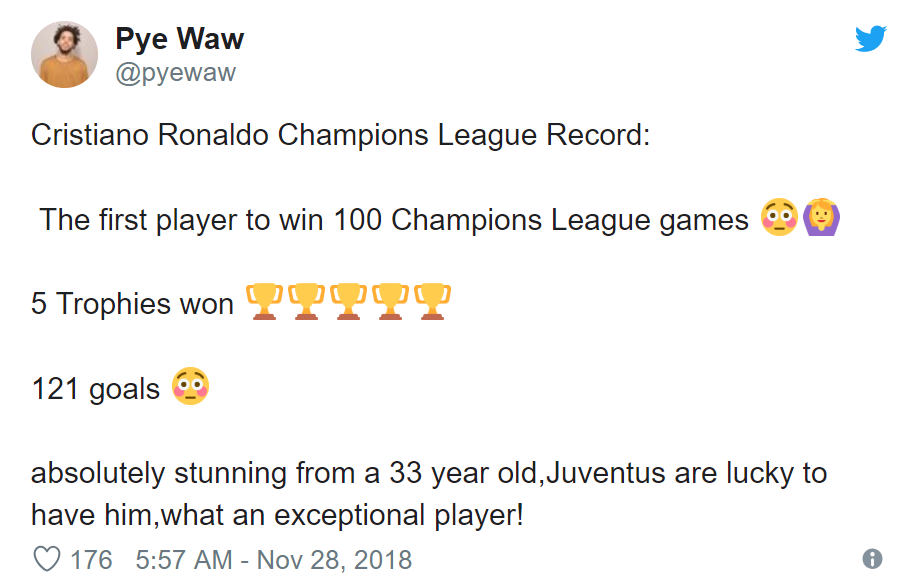 Twitter reacts as Cristiano Ronaldo beats Messi to Champions League record - Bóng Đá
