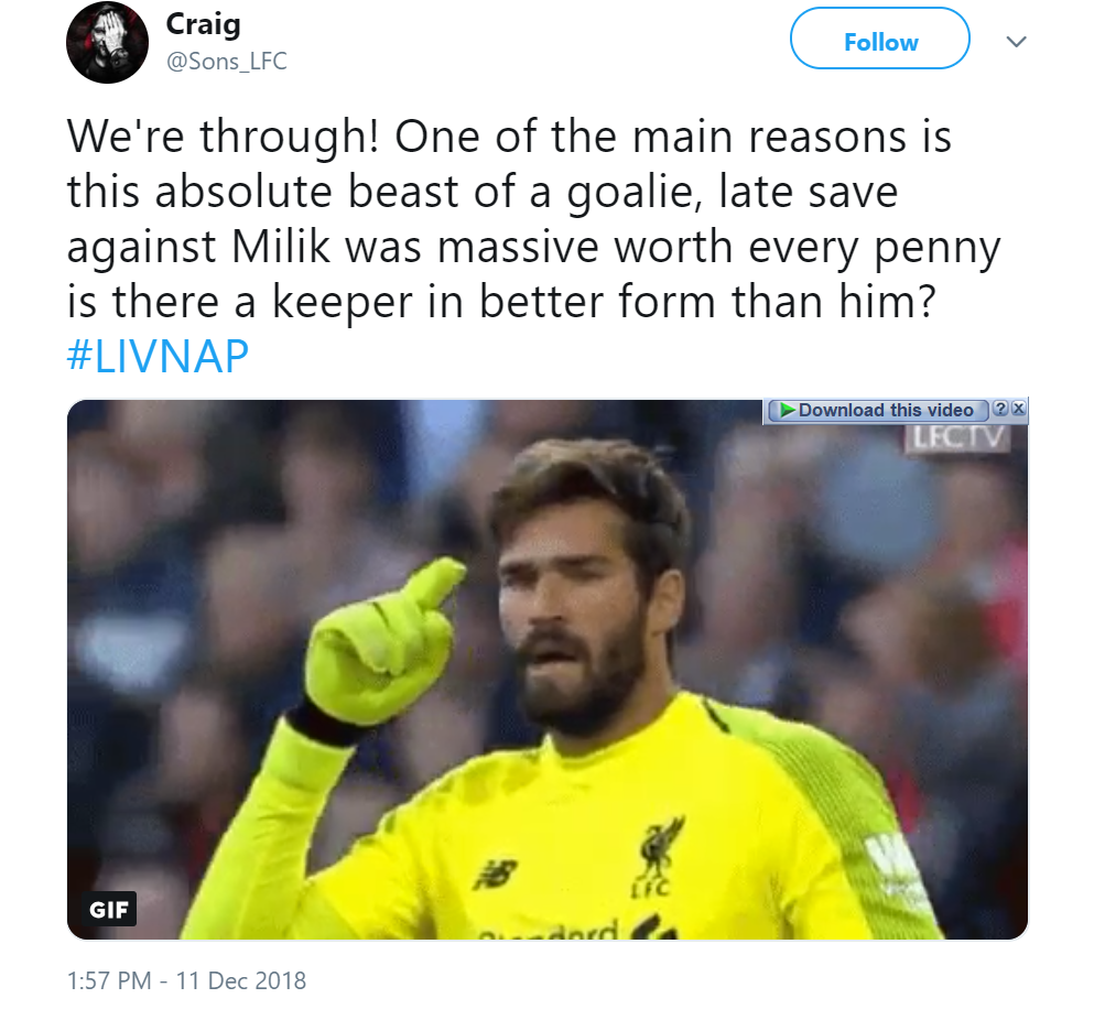 """Worth every fricking penny"", ""Wonder Hands"": Some Liverpool fans laud this key star in 1-0 win over Napoli + Match Report - Bóng Đá"