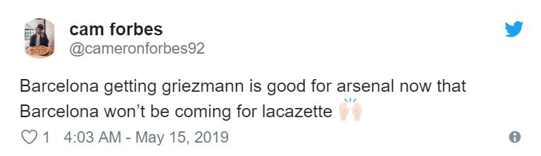 'Go get him' - Arsenal fans react to Antoine Griezmann confirming Atletico Madrid exit - Bóng Đá