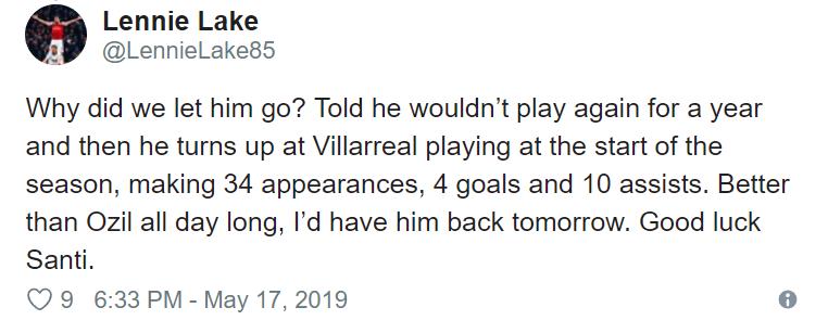 """Better than Ozil"" – Arsenal fans react as Santi Cazorla returns to Spain squad - Bóng Đá"