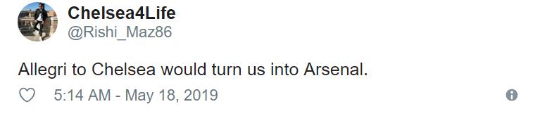 """""""Please don't Roman"""" – Chelsea supporters don't want Allegri - Bóng Đá"""