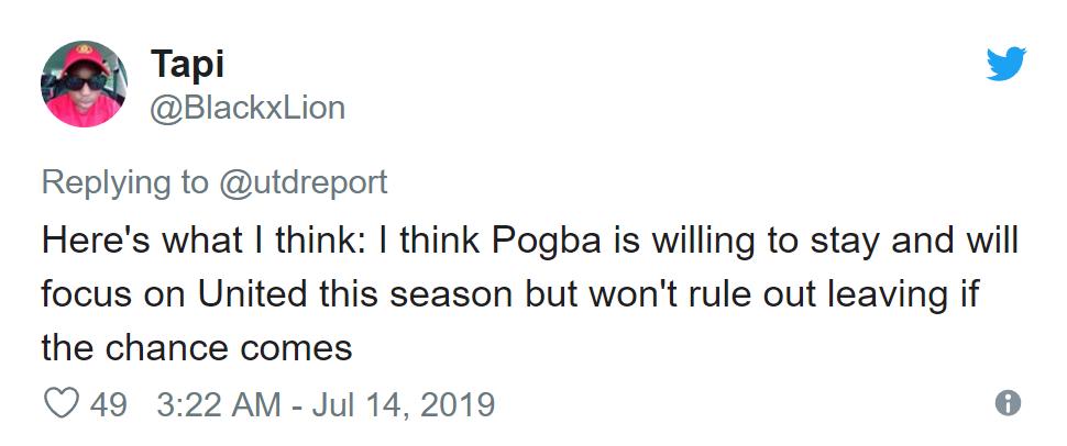 Man United fans discuss Paul Pogba's future after post-match response - Bóng Đá