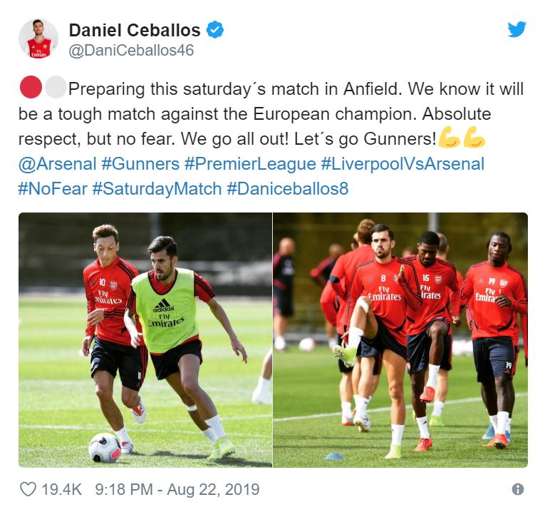 Dani Ceballos sends Arsenal fans a fearless message ahead of Liverpool clash - Bóng Đá
