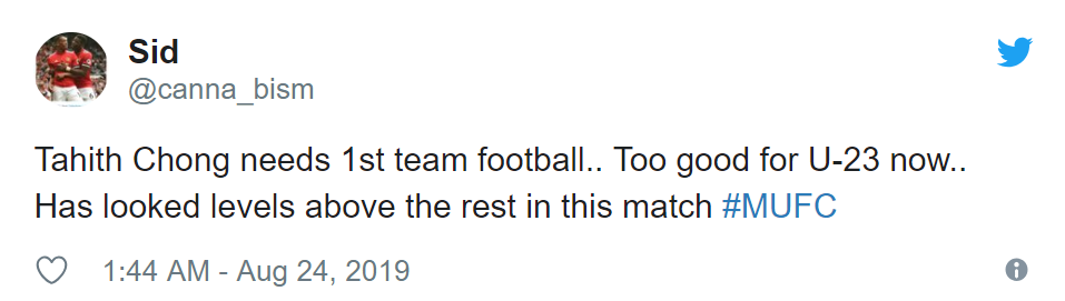 Manchester United fans react to Tahith Chong's under-23 performance - Bóng Đá