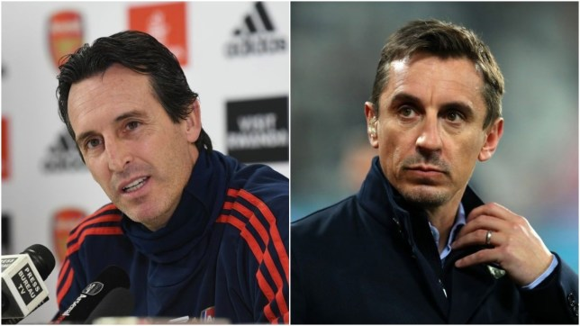 Gary Neville sends message to Arsenal fans who want struggling manager Unai Emery sacked - Bóng Đá