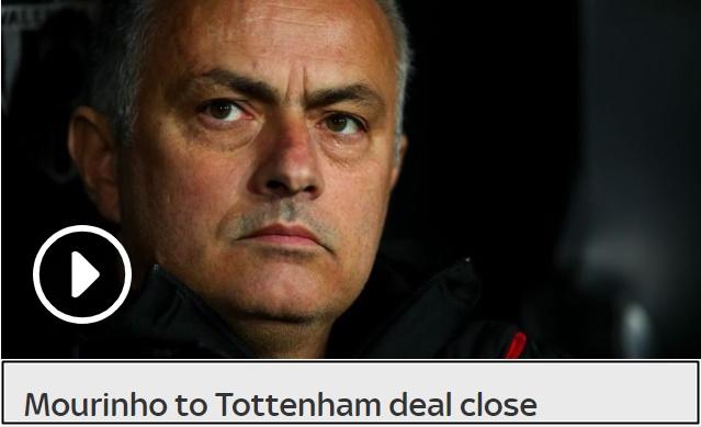 sky sports: mourinho chuẩn bị đến tottenham - Bóng Đá