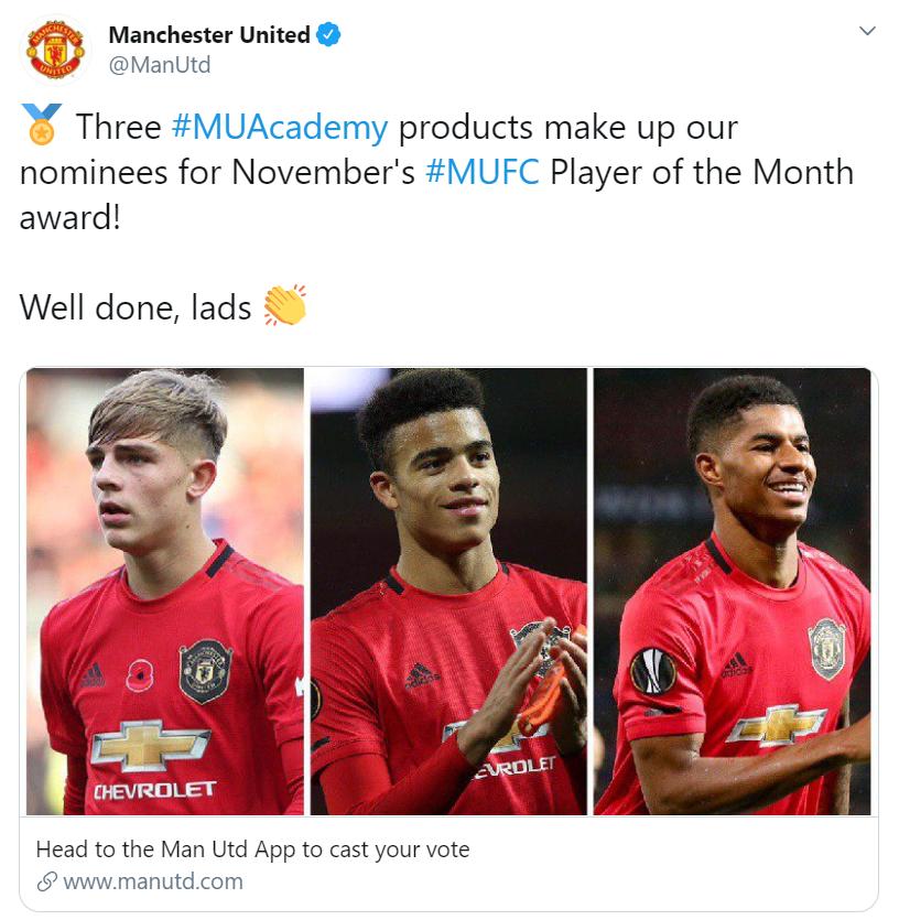 3 ứng viên cho danh hiệu cầu thủ xuất sắc nhất tháng 11 của man utd - Bóng Đá